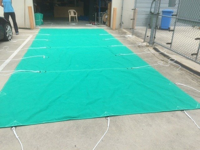 Custom Made to order Truck Tarps with shortners